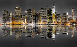 New York City nattsikt royaltyfria bilder