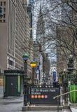 New York City 42nd gata Arkivbilder