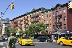 New York City 2nd Juli: Historisk byggnadlägenheter i Manhattan från New York City i Förenta staterna Arkivfoto