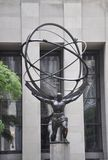 New York City, 2nd July: Rockefeller Center with Atlas Statue details in Manhattan from New York City in United States Royalty Free Stock Photo