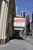 New York City, 2nd July: Street view with Cort Theatre in Manhattan from New York City in United States stock photo