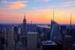 New York City nel tramonto Fotografia Stock Libera da Diritti