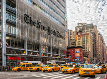 New York City, New York Times building, USA. Stock Photos