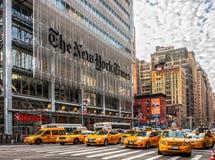 New York City New York Times byggnad, USA Arkivfoton