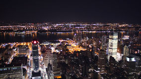 New york city by night stock images