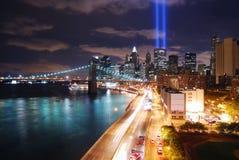 New York City at night stock photography