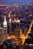 New York City at night. Scenic stock photo