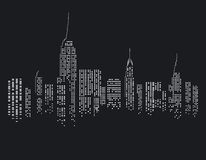 New York city at night vector illustration