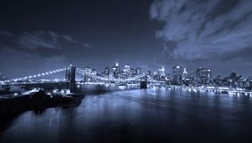 New York City at night. New York City panoramic at night Stock Images