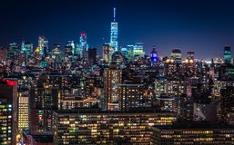 New York City. At Night Stock Images