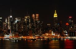 New York City at night Stock Photography