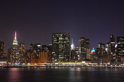 New York City at night Stock Images
