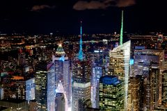 New York City by night Royalty Free Stock Photo