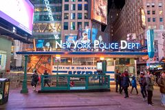 New York City at night. NEW YORK - CIRCA MARCH 2016: New York City at night. The City of New York, often called New York City or simply New York, is the most royalty free stock photography