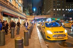 New York City at night. NEW YORK - CIRCA MARCH 2016: New York City at night. The City of New York, often called New York City or simply New York, is the most royalty free stock image