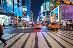 New York City at night. NEW YORK - CIRCA MARCH 2016: New York City at night. The City of New York, often called New York City or simply New York, is the most stock photos