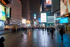 New York City at night. NEW YORK - CIRCA MARCH 2016: New York City at night. The City of New York, often called New York City or simply New York, is the most stock image