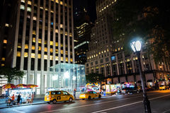 New York City at Night. NYC, New York: August 28, 2016: Manhattan, New York City. New York City is the most populous city in the United States Stock Photography