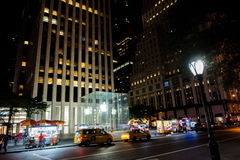 New York City at Night. NYC, New York: August 28, 2016: Manhattan, New York City. New York City is the most populous city in the United States Royalty Free Stock Photography