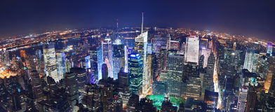 New York City night panorama Stock Image