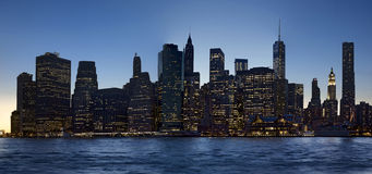 New York City at night Royalty Free Stock Images