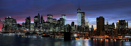 New York City at night royalty free stock image