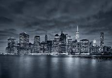 New York City at night Royalty Free Stock Photos