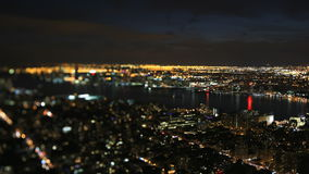 New York city night scene stock footage