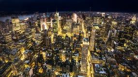New York City night skyline Royalty Free Stock Images