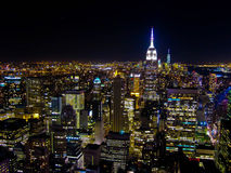 New york city by night. From Top of the pop view stock photography