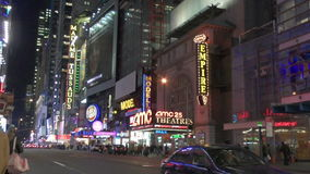 New York City at night in stock video footage