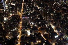 New York City at night. View of New York City at night stock images