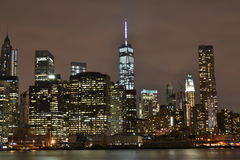 New York City night view. NYC, night view taken on September 2014 Stock Photography