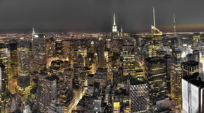 New York City night view Stock Photo