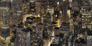 New York City night view Royalty Free Stock Photos
