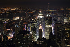 New York City Nightscape Photos libres de droits