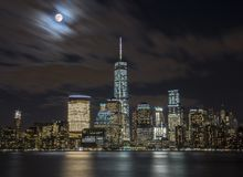 New York City during Nighttime Royalty Free Stock Image
