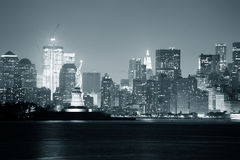 New York City noir et blanc photo stock