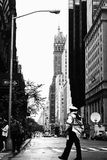 New York City noir et blanc Images stock