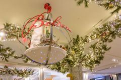 Macy`s Herald Square store decorated for Christmas Royalty Free Stock Photos