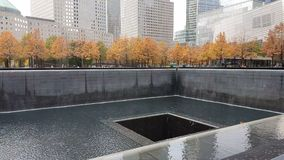 Memorial at World Trade Center Ground Zero in New York City