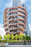 New York City, NY, EUA - 17 de maio de 2019: A embarca??o, igualmente conhecida como Hudson Yards Staircase fotos de stock