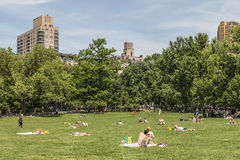 New York City, NY - May 26 - Visitors enjoying a sunny Memorial Day in 2014. Royalty Free Stock Photo