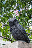 New York City, NY/USA - circa July 2015:  Bronze owl sculpture in Herald Square, New  York Stock Photos