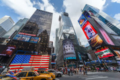New York City, NY/USA - circa July 2013: Time Square in New York  City Royalty Free Stock Photos