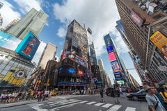 New York City, NY/USA - circa July 2013: Time Square in New York  City Royalty Free Stock Photo