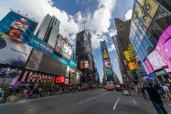 New York City, NY/USA - circa July 2013: Time Square in New York  City Royalty Free Stock Photography