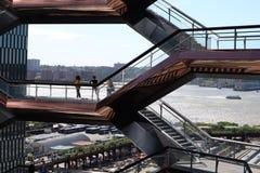 New York City, NY, USA - MAY  22, 2019: The Vessel, Hudson Yards Staircase designed by architect Thomas Heatherwick. Midtown Man stock photos