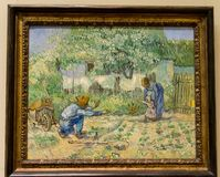 New York City The Met - Van Gogh - First Steps after Millet royalty free stock photo