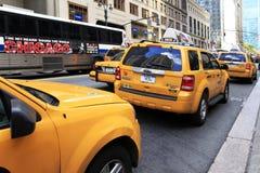 New York City. New York, NY, USA - October 12, 2012: Traffic jam on the street in New York City. Manhattan, New York City Royalty Free Stock Photography